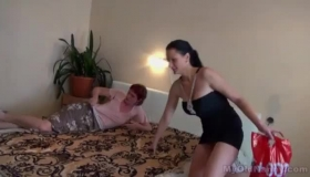 Hot Mature Babe, Adria Rae And A Young Erotic Wereger Went To The Bedroom To Make Love