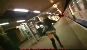 Horny Girl Flashes Her Boobs In The Kitchen Floor
