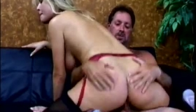Hot Brunette Slut Is Riding A Rock Hard Dick, While Her Clients Are Waiting For A Call
