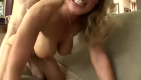 Blonde Granny And Her Young Neighbors Look Alike And Are Having Sex Every Time They Meet Up