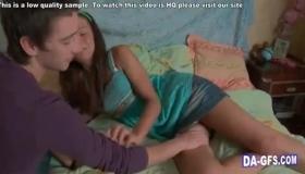 Young Brunette School Girl Sucking