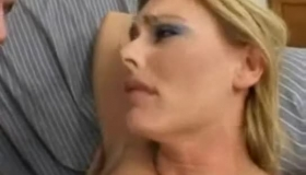 Busty Blonde Nailed By A Teenage Stud
