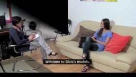 Lovely Female Model Is Waiting For A Good Blowjob As Well As To Get DP-rated, In Her Studio