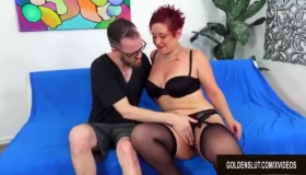 Redhead Mature Woman Getting Excited In Tease