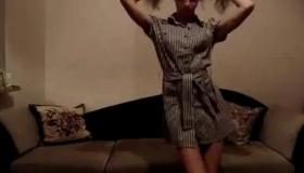 Blonde Teen Strips And Anal Hellhole Pleasures