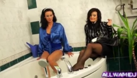 Four Classy Lesbians Licking Their Wet Pussies