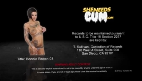 Busty Girl, Bonnie Rotten Is Playing With A Black Dildo Because She Wants To Cum