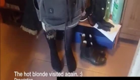Cute Blondie Is Doing Her Best To Satisfy Her Ex Husband With Her Moistened Pussy