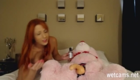 Two Sexy Red-head Lesbian Dolls Teasing