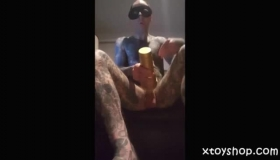 Sexy Fleshlight Dildo Up The Ass Masturbating Creamy Pussy