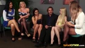 Lesbians Deepthroat Cumshot