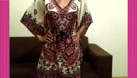Desi Indian Girl Showing Her Outfit