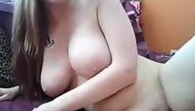 Big Tit Amateur Blond Tugs Cock
