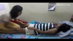 Desi Little Daughter Neha Showing Big Boobs