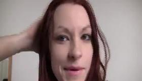 Redhead Beauty Gets Sybian Massage