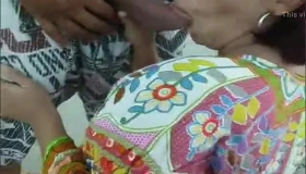 Busty African Vanessa Toying And Masturbating