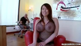 Huge Big Tits Blonde Milf GlassDeskSub Slut Orgy