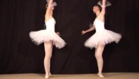 Sexy Ballerina Shoves Her Tiny Feet Inside Her Dorm Room Dildo