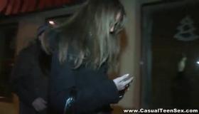 Casual Girl In Public Punishment Outdoor Fucking Two Lez Wearing