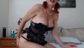 Busty Huge Tits MILF Cuddles Her Two Mature Maids And Gives Them A Good Oral Cleaning