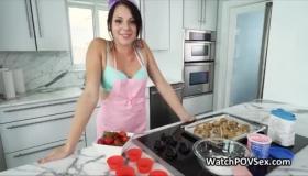 Kitchen Fucking Hardcore Strapon Sex With Julia De Lucia