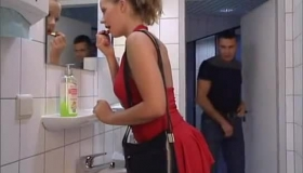 Blonde Babe Fucked By Two Dudes In Busy Train Station