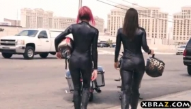 Interracial Biker Sex Gangbang Ebony Banged