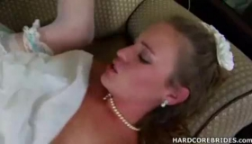 Blonde Bride Hubby Grain Married For Wedding Fuck After He Receive A Bottle Of Wine For Hot Wives! HD Recording