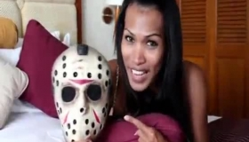 Ladyboy Babe Has Sexual Orgasm On Webcam Live