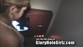 Gloryhole Whore Fucks Her Banana