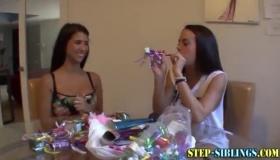 Lesbian Stepsisters Fuck Their Adorable Cousins A Bit Hard