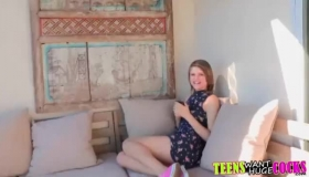 Busty Teen Scarlett Sage Pussyfucked And Ass Creampied!