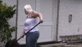 Busty Black GF Swallowing Cum On Big Tit Wife