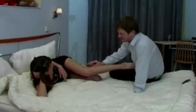 Leggy Mamma Gets Her Luscious Wet Pussy Stuffed Very Hard By Big Dicked Pawn Keeper