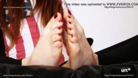 Bare Footjob And DP With Big Tits Euro PAWG Kelly Divine Part 4