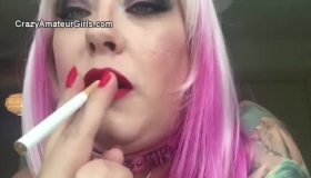 Teenage British BBW Harmony Rides Big Black Dong Deepthroat & Facial