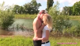 Petite Young Blonde, Viviana Mancini Likes To Take Advantage Of Her Stallion With Big Cock