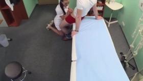 Curvy Nurse Akshay Is Busy In Clinic IV039
