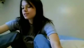 Dark Haired Woman, Julia De Lucia Spread Her Legs To Show Everything She Can Think Of While Masturbating.