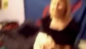 Beautiful Blonde Girl Making The Masturbator.