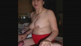 Mature Blonde Masturbating In Her Clothes