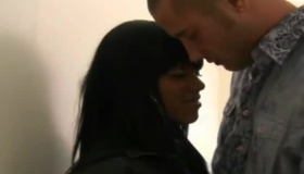 Ebony Woman With Big Boobs Is Having Sex With A Guy She Has Just Met