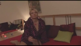 Euro MILF Amateur Toying Her Snatch With Super High Heels