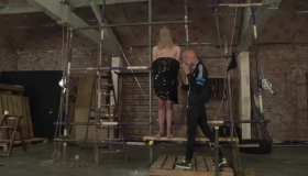Blind Folded Hoe Fucked In The Ass While Spreading Tied Up