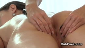 Moaning Lesbo Masseuse Pleasures Her Female Client