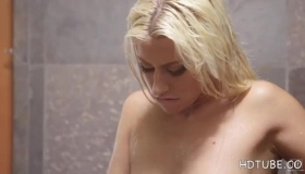 Jessie Summers Is Giving A Head To A Friend While Rubbing Her Wet Pussy At The Same Time