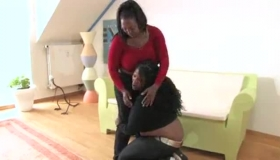 Black Lesbians Are Making Love With Each Other In A Huge Bedroom, While No One Is Watching.