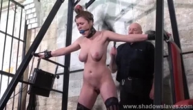 Gagged, Submissive Chick Got Tied Up And Stuffed With Rock Hard Meat Stick, Until She Came.