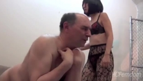 Asian Mistress Is Fucking Her Slave, While His Master Is Out Of Town, For The Weekend