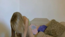 Nerdy Blonde Chick With Dirty Ideas On Her Mind Is Sucking Her Boyfriend's Dick Like A Slut